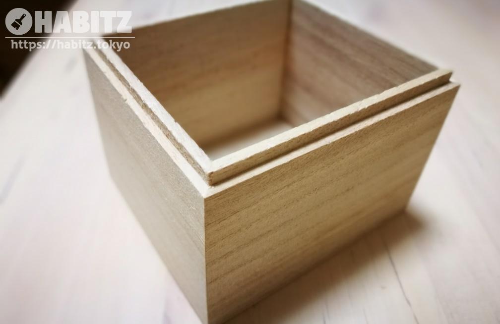 セリアのウッドボックス